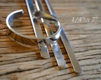 Aluminum Blanks/ 12 guage/ cuffs/ -10 Polished 1/4 x 7 Aluminum Cuff Blanks - Flat