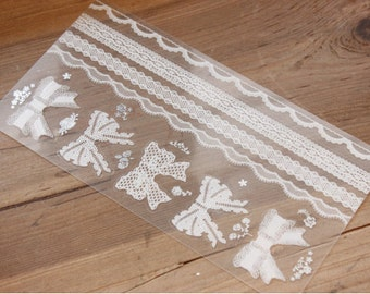 Lace Stickers Zakka decoration tape wrapping gift scrapbooking