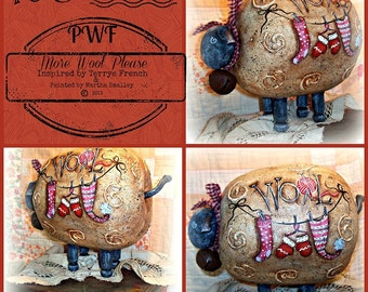 More Wool Please by Martha Smalley,  Painting With Friends E Pattern