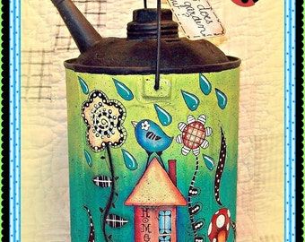 How Does Your Garden Grow? - Painted by Martha Smalley, Painting With Friends E Pattern