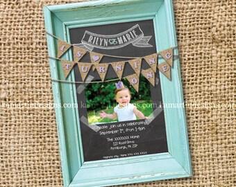 Baby Girl Birthday Invites with Envelopes