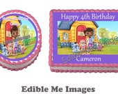DISNEY DOC MCSTUFFINS Birthday Party Cake Topper Decoration Edible Image Cupcake frosting sheet mickey mouse