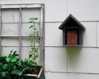 Mason Bee House, Habitat, Cedar, Habitat Restoration, organic gardener,