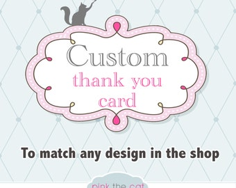 Matching Thank you Card Note - DIY Printable Digital File