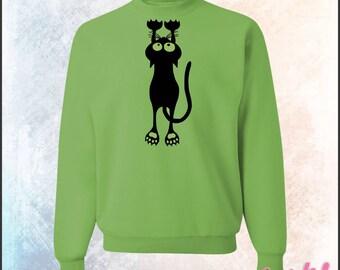 Hanging Black Cat Sweatshirt -  562