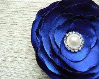 Royal blue wedding bridal bridesmaids hair flower, bridal hair accessory, hairpiece, bridal hair clip, wedding hair accessory, READY TO SHIP