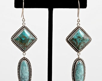 Turquoise 104 - Earrings - Sterling Silver & Turquoise