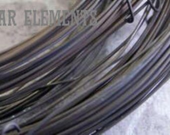 WIRE - 10 Feet 24ga Pure Brass Dead Soft - Hand Oxidized Wire