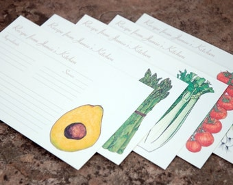 Personalized Recipe Cards: Vegetable Garden {Set of 20} - made to order