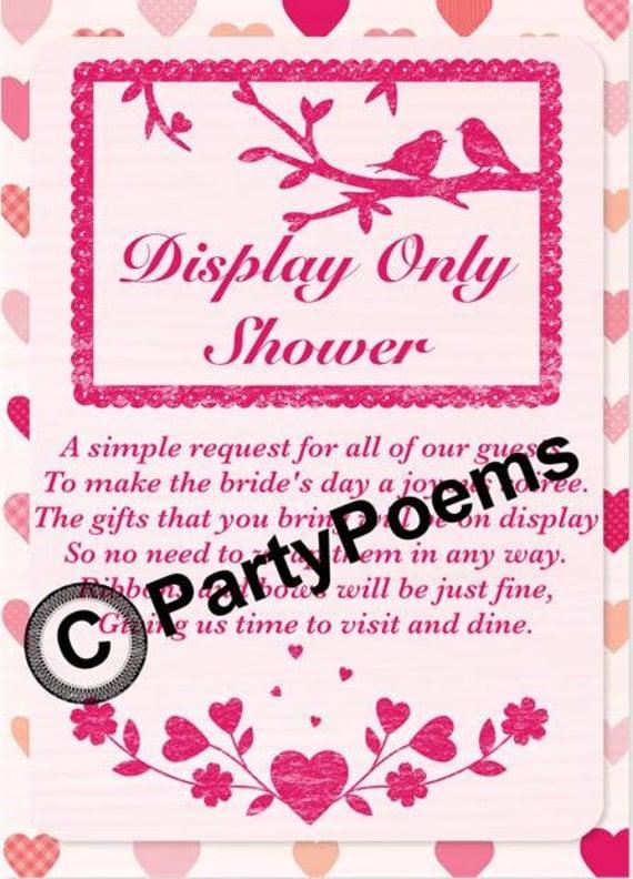 display wedding shower poems | just b.CAUSE