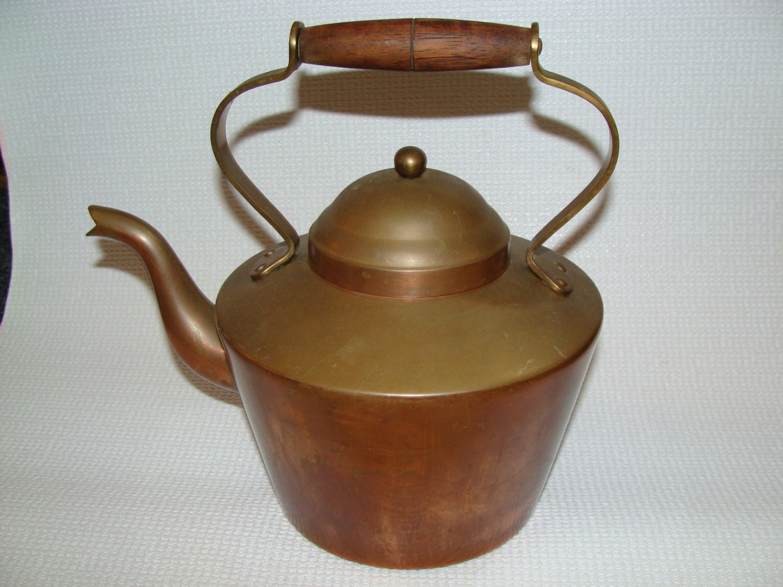 Antique Copper Tea Kettle By Tagus Portugal
