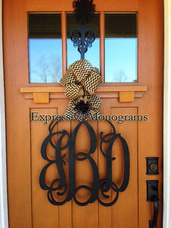 wooden letters for wall 20 inch wood monogram letter great for wedding door and 15664