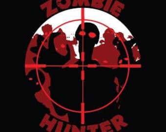"Zombie Cloth Patch - Zombie Hunter - 4.5"" X 5"" Cloth Patch"