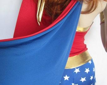 Wonder Woman Cape only- Halloween -Party-female superheroe-Sexy-ZanzaDesigns