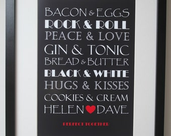 Printable Perfect Together Poster - Personalised