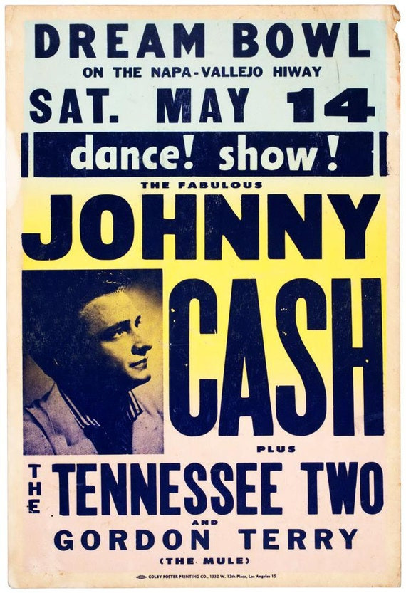 country music johnny cash playbill gig by originalunderground. Black Bedroom Furniture Sets. Home Design Ideas