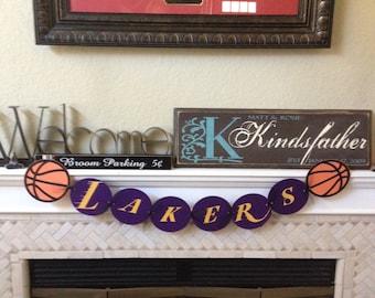 Lakers Basketball Banner
