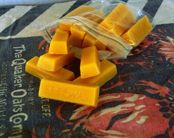 100% Raw Beeswax; (16) 1 oz. Bricks of Beeswax (just over 1 lb.)