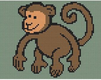 Monkey 2 Cross Stitch Pattern