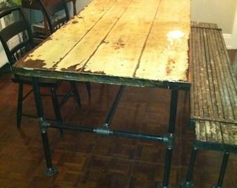 Salvaged Industrial Door Table