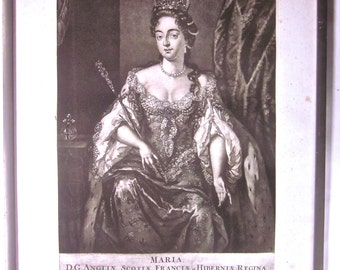 Mezzotint Portrait, Mary Queen of Scots, in the manner of Abraham Blooteling