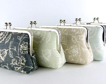 Bridesmaid Clutch, Wildflowers collection, Silk Lining, Bridesmaid Gift, Wedding clutch