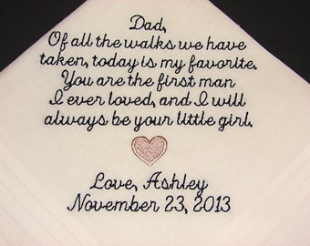Personalized Wedding Handkerchief-Father of the Bride