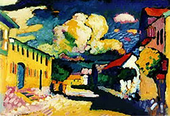 """Vintage Art Print 13X17"""" Kandinsky Print features the image:  View from the brewery window in Murnau (1908)"""