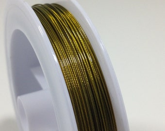 10 yd. Gold Plated Steel Beading Wire .45mm