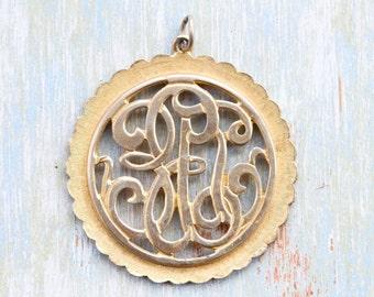 ER Medallion - Elizabeth Regina Monogram - Jewelry Assemblage Component