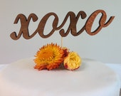 xoxo hugs and kisses - Classic Wedding Cake Topper With Letter Accent