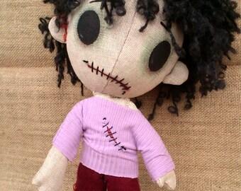 Scary Handmade 02. Creepy Zomboy, zombie doll
