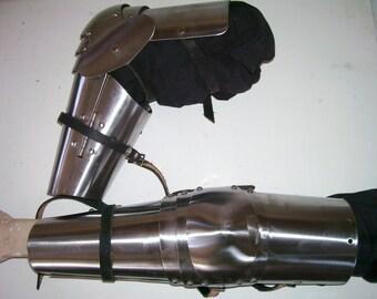 SCA, Adria, LARP 14th c Style Full Steel Arm Armor, USA Made