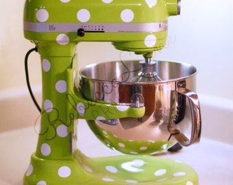 Polka Dots | Decals | Kitchenaid Stand up Mixer | White | Black | Colors | Glitter