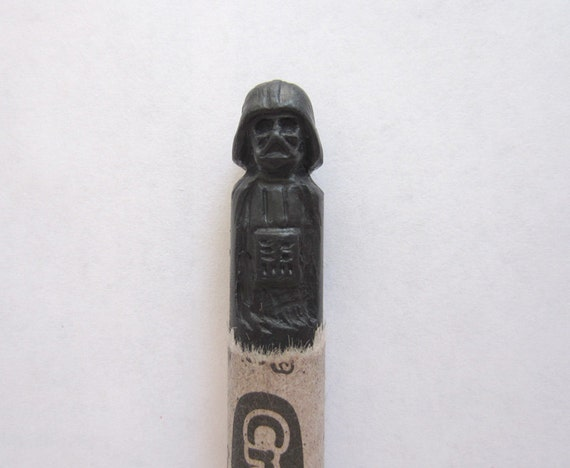 Star Wars Darth Vader carved crayon
