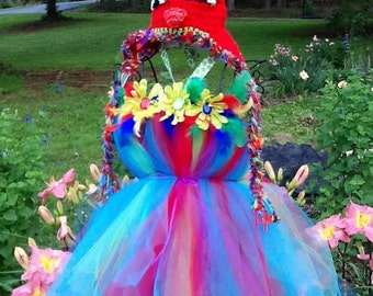 Parrot dress and hat combo