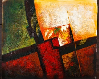 Abstract F -- Original Oil Painting on Canvas -- 20 x 24