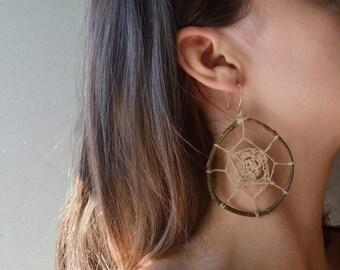 web-on-a-branch earring