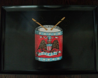 Couroc Sweet Land of Liberty American Drum Large Tray