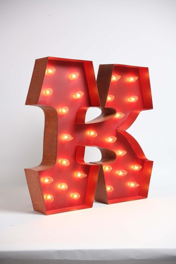 Awesome Whimsical lighted carousel letter K. includes lights, a teeny ... Awesome Letter K