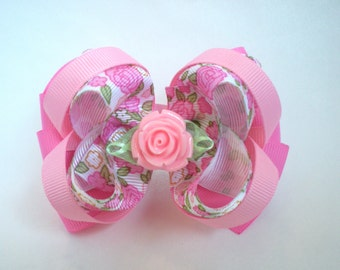 Pink Rose Boutique Hair Bow