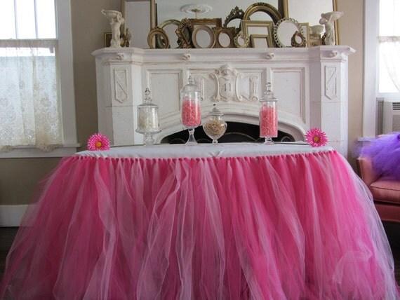 Custom Tulle Tutu Table Skirt Pinks By Pinksugartutus On Etsy