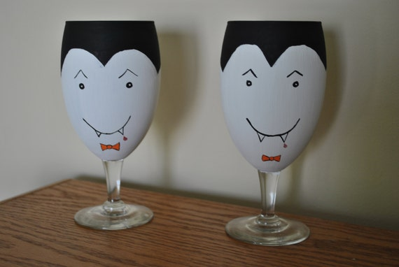 Set of Two Vampire Goblets