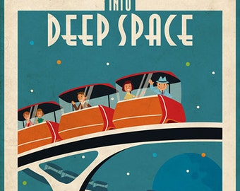 Mature Vintage space poster powerful