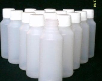 10 x 100 ml clear plastic bottles with lids ideal home / craft / hobby / travel / medicine