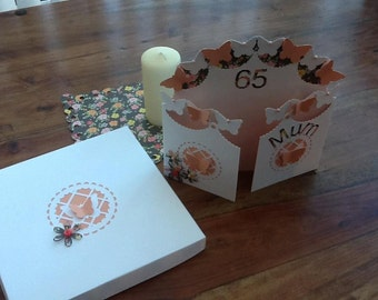 Butterfly Birthday Card and box