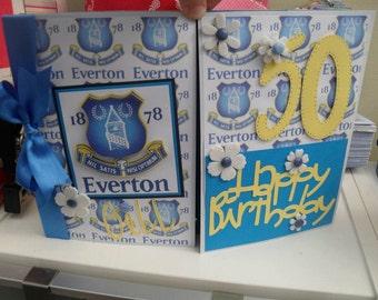 Football Themed Birthday Card, football card, fathers day card, dad birthday, son birthday, manchester united card, chelsea card, arsenal