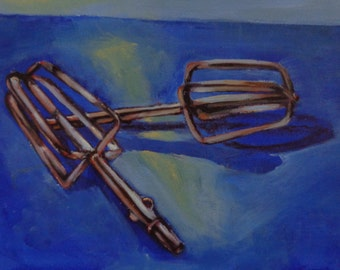 Acrylic Painting by Mike Armstrong-Rusty Beaters