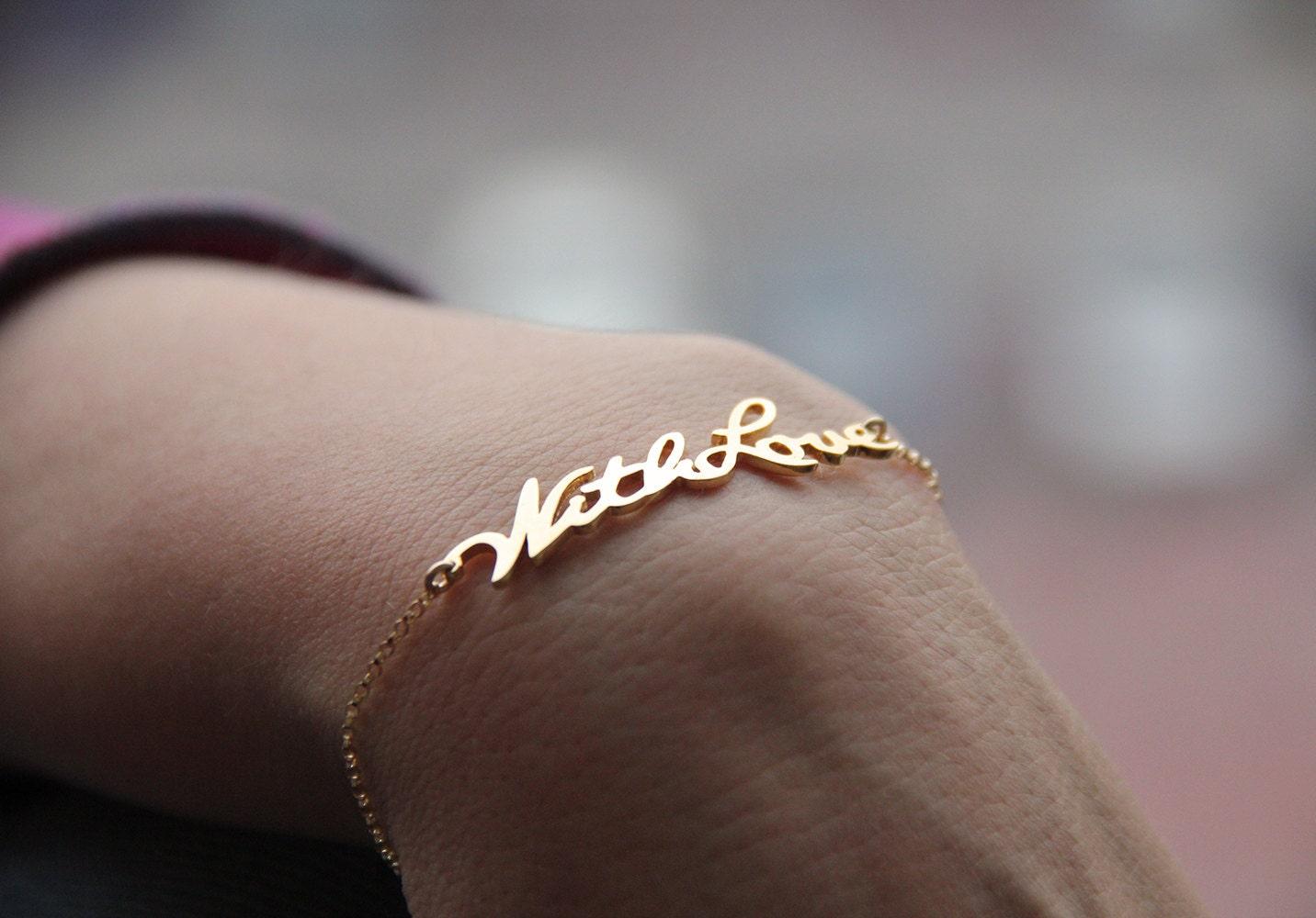 gold signature bracelet your handwriting bracelet