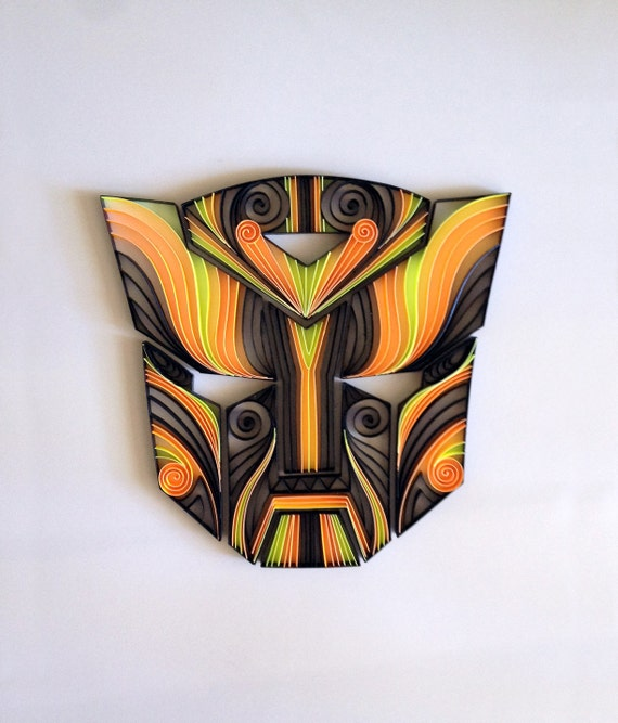 Comic Quilling Artquilled Transformers Autobots Mask